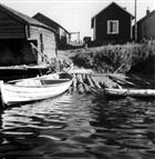 FISKELÄGE BÅT BOSTADSHUS FISKEBÅT